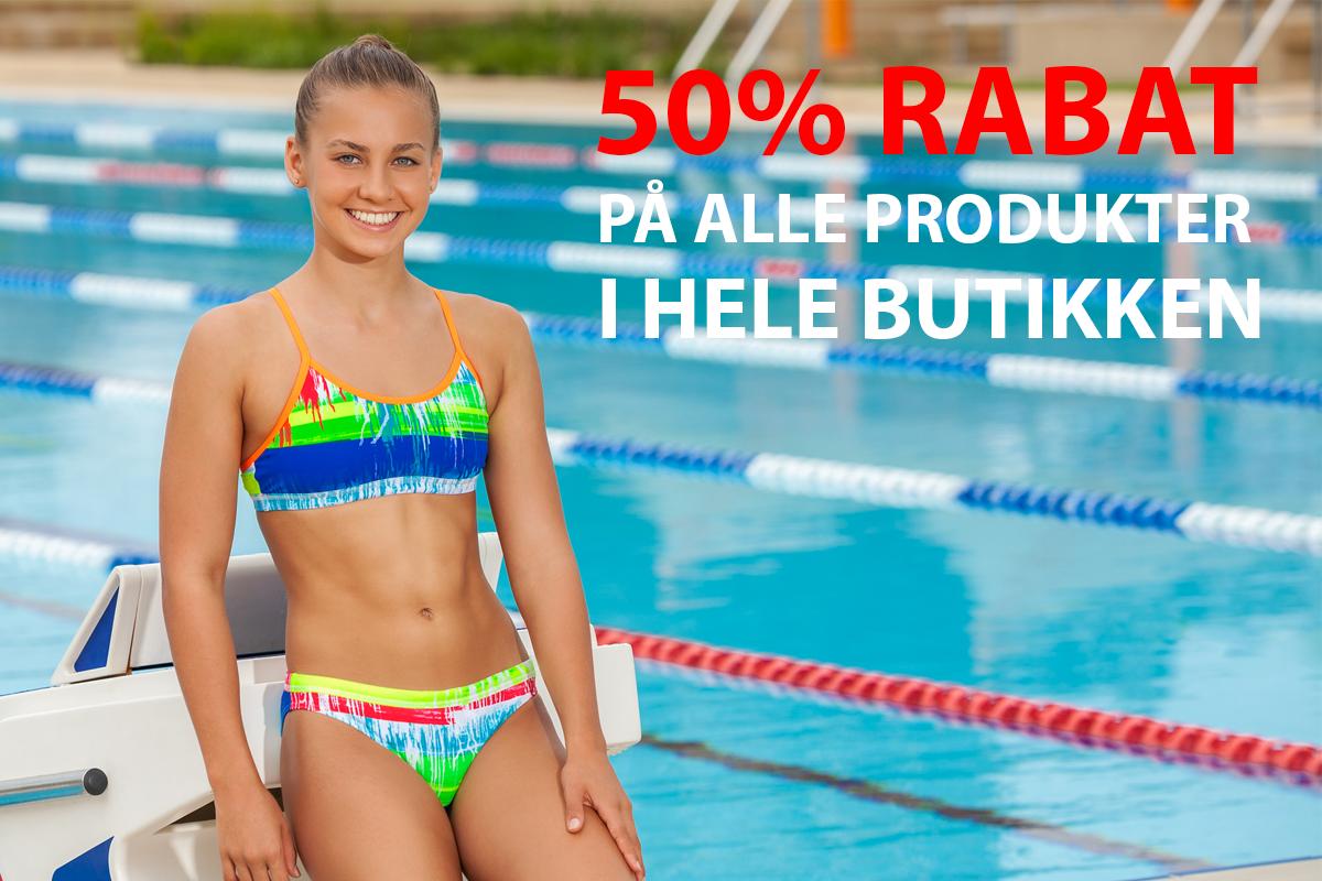 Spar 50% på hele butikken!